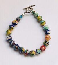 Stunning  Millefiori Glass Ball Bracelet