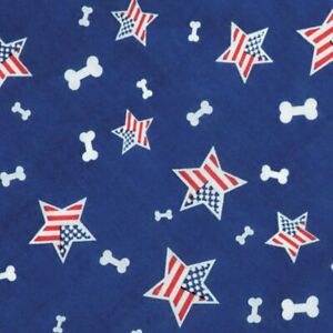 Aria BONE IN THE USA Dog Bandanna Doo Rag Du Rag Handkerchief