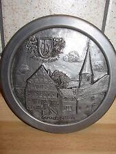 rundes Emblem zum anhängen Zinn-like Ø 12,5cm REMSHALDEN GERADSTETTEN