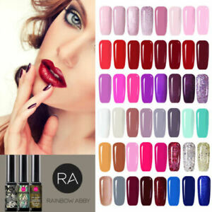 RA Nail Pure Color Pink Red gel polish nails Soak off UV LED Colour Varnish