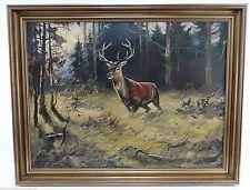 Künstlerische Öl-Malerei mit Hirsch-Motiv