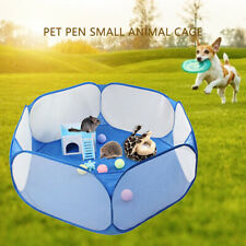Foldable Pet Fence Hamster Cat Guinea Pig Game Playpen Small Medium Animal Cage