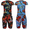 Mens Floral Print Drawstring Short & Short Sleeve T Shirt Brave Soul Jaws Set