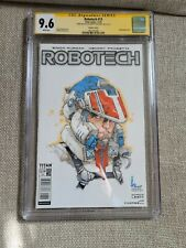 Robotech #13 (2018) CGC SS 9.6 signed w/ Rick Hunter sketch by Kenneth Rocafort