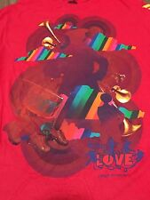 The Beatles Love Cirque Du Soleil Medium Red T Shirt
