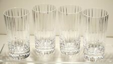 "4 BACCARAT CRYSTAL HARMONIE HIGHBALL TUMBLER GLASSES 5 1/2""  ~ SIGNED"