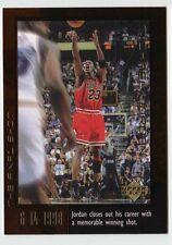 Michael Jordan 1999 Upper Deck THE FINAL MEMORABLE SHOT Official Basketball Card