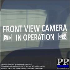 1 x cámara de vista frontal en funcionamiento Pegatinas Ventana CCTV signos-van, taxi, coche, taxi