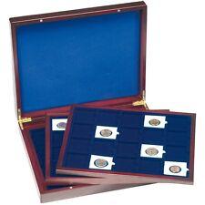 PROMOTION - Coffret numis en bois avec 3 plateaux de 20 cadres  Réf 304747