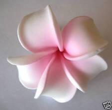 Hawaiian Hawaii Flower Wedding Bridal Favor Party Plumeria QTY ( 2 ) Hair Clips