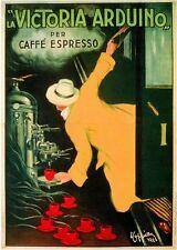 1900s French Victoria Caffe' Espresso Food & Wine Advertisement Art Poster Print