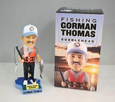 Milwaukee Brewers Lakeshore Chinooks Gorman Thomas Fishing Bobblehead In Box