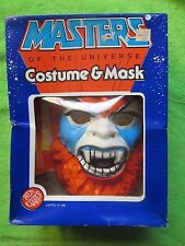 Masters of the Universe He Man Halloween Mask / Costume NIB Beast Man Rare 1984