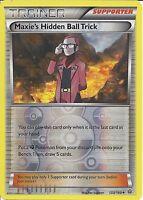 POKEMON CARD XY PRIMAL CLASH- MAXIE'S HIDDEN BALL TRICK 133/160 REV HOLO TRAINER