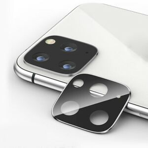 Camera Lens Full Cover Protective Metal Ring + Tempered Glass Case For iPhone