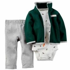 BOYS 12 MONTHS CARTERS 3 PIECE DOG PRINT SET OUTFIT PANTS JACKET NWT