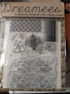 "BRAND NEW – DREAMEES ""BACKGROUNDS"" – GREAT CLEAR STAMP SET"