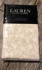 New Ralph Lauren Allaire Floral Pair Standard Pillowcases Grey/Cream