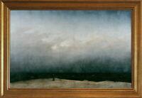 Classic Framed Caspar David Friedrich The Monk By The Sea Giclee Canvas Print