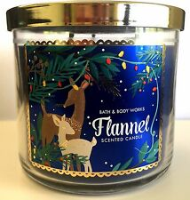 Bath and Body Works FLANNEL 3 Wick Candle 14.5oz