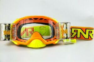 RIP N ROLL RNR PLATINUM WVS 48MM ROLL OFF GOGGLES ORANGE MOTOCROSS ENDURO CHEAP