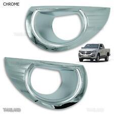 Lh Rh Chrome Fog Spot Light Lamps Cover Trim For Chevrolet Colorado Holden 2017