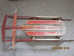 "Vintage Flexible Flyer Astro Rocket Steering 40"" Sled"