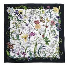 NWT NEW Gucci Flora & INSECTS Multi Color Silk Shawl Scarf $480