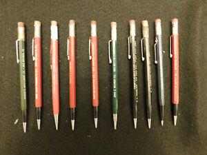10 ~ Vintage Autopoint Advertising Mechanical Pencils