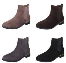 Damenstiefel & -stiefeletten mit Blockabsatz im Boots-Stil mit Gummizug/Stiefeletten