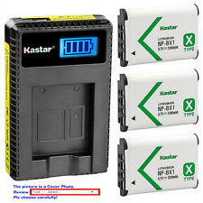 Kastar Battery LCD Charger for Sony NP-BX1 BC-CSX & Sony Cyber-shot DSC-RX1R