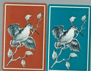 Geniune Swap Vintage Playing Card   Birds x 2