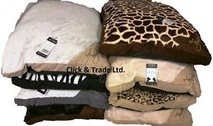 PET DOG BED CUSHION LARGE & EXTRA LARGE SIZE NEW ATTRACTIVE DESIGN FLEECE COVER