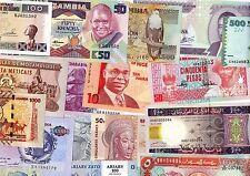 LOT 17 Billets DIFFERENTS AFRIQUE Lesotho Tanzanie Angola ZAIRE UGANDA .NEUF UNC