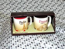Starbucks Global Icon Collection Paris France Mugs - Set of Two Demitasse NIB