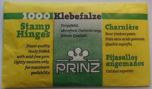 Prinz 1000 Stamp Hinges - Choose number of packs from drop down menu.