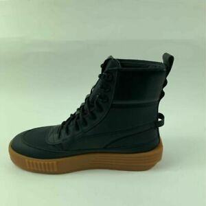 PUMA Mens XO Parallel Tactical Boots Sneakers Black Leather Lace Up 9-9.5 M New