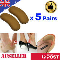 5Pairs Extra Sticky Fabric Liners Shoe Heel Inserts Insoles Pads Cushion Grips
