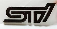 New Glossy  Black  Rear Trunk Badge Emblem Decal