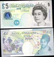 GREAT BRITAIN ENGLAND 5 POUNDS 2002 (2012) P 391 CHRIS SALMON QEII UNC