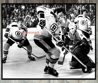 NHL Boston Bruins Esposito Orr Philadelphia Flyers Bernie Parent  8 X 10 Photo