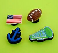 Crocs Jibbitz Charms *3-D Football-Anchor-Flag-Megaphone **ALL 4 for $8.99 *NEW!
