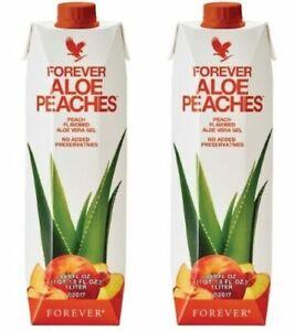 2 New Forever Aloe Bits N'Peaches -33.8 fl.oz(1 Liter)2 Pack SALE