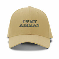 I Love My Airman Embroidery Embroidered Adjustable Hat Baseball Cap