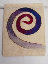 """Hand made OOAK woven tapestry wall hanging ART textile """"Rainbow SNAKE """""""