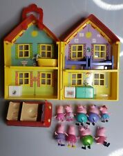 Peppa Pig 17 piece Toy Lot Playset House Car Figures Furniture