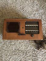 Vintage Teletalk Model 212AM-3 Antique Old Tube Radio Tested Turns On