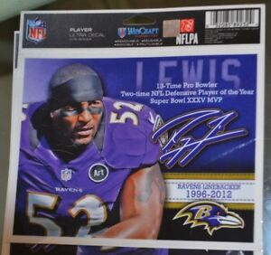 RAY LEWIS BALTIMORE RAVENS PLAYER  5X6 ULTRA WINCRAFT DECAL