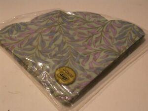 IHR Rondo round paper napkins 10 in pack 3 Plies West Germany Blue/Purple Leafes