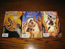 Topps - XENA - The Dragon's Teeth 1 - 3 Complete Series!! Glossy VF  1997